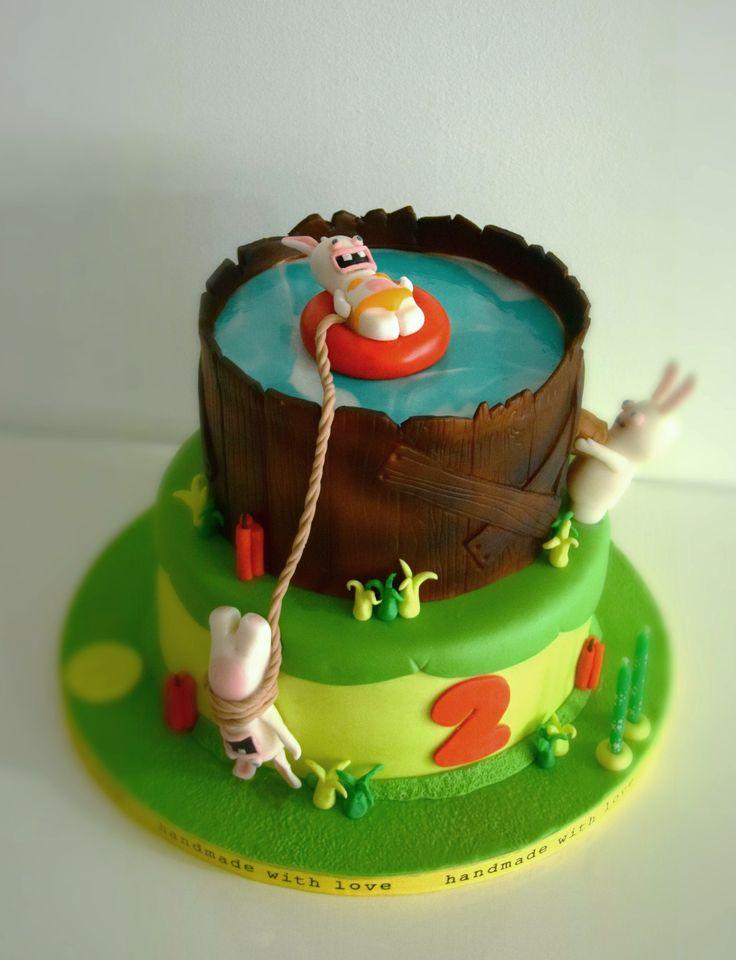 Rabbids Invasion birthday cake