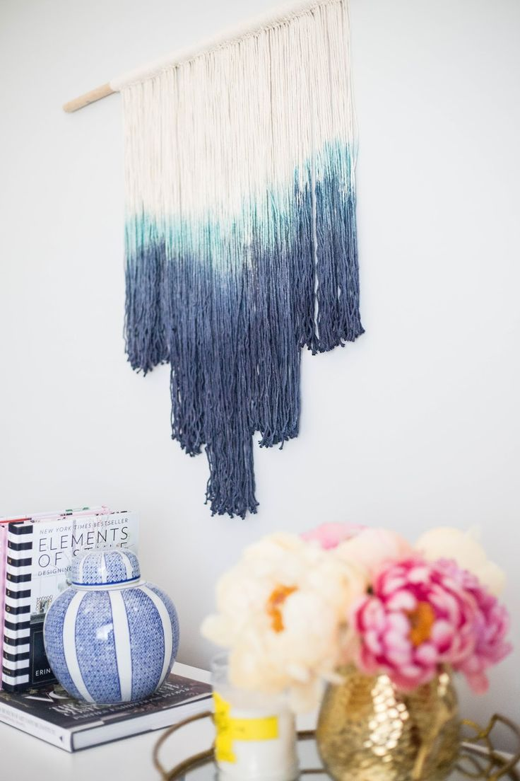 A Pretty Penny: DIY: HOW TO MAKE A DIP DYED WALL HANGING... #downeaststyle @downeaststyle