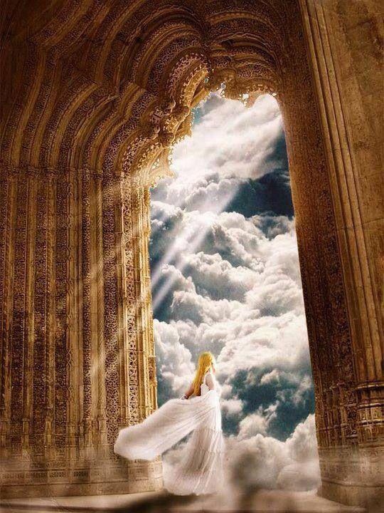 Angels Singing Sky Background