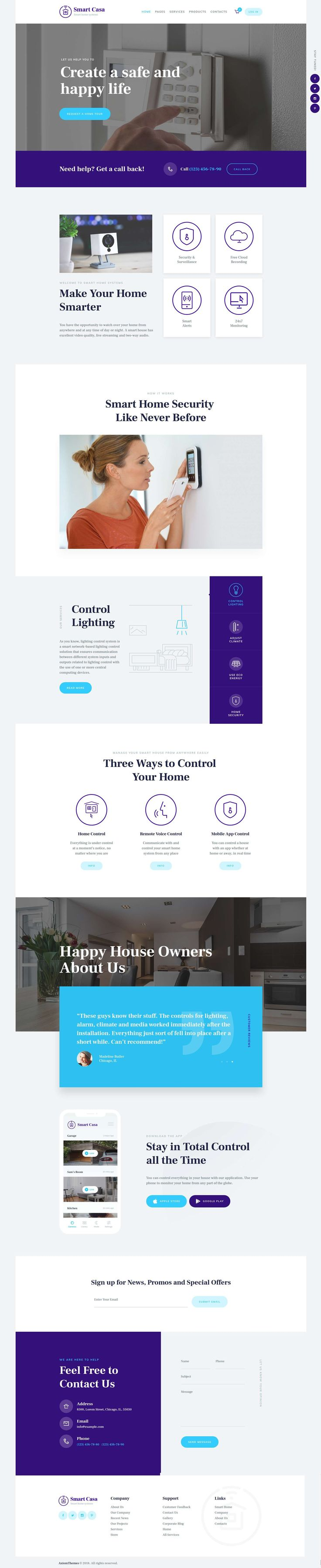 Smart Casa - Home Automation & Technologies Wordpress Theme #Architecture