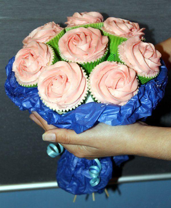 Ramo de cupcakes de rosas