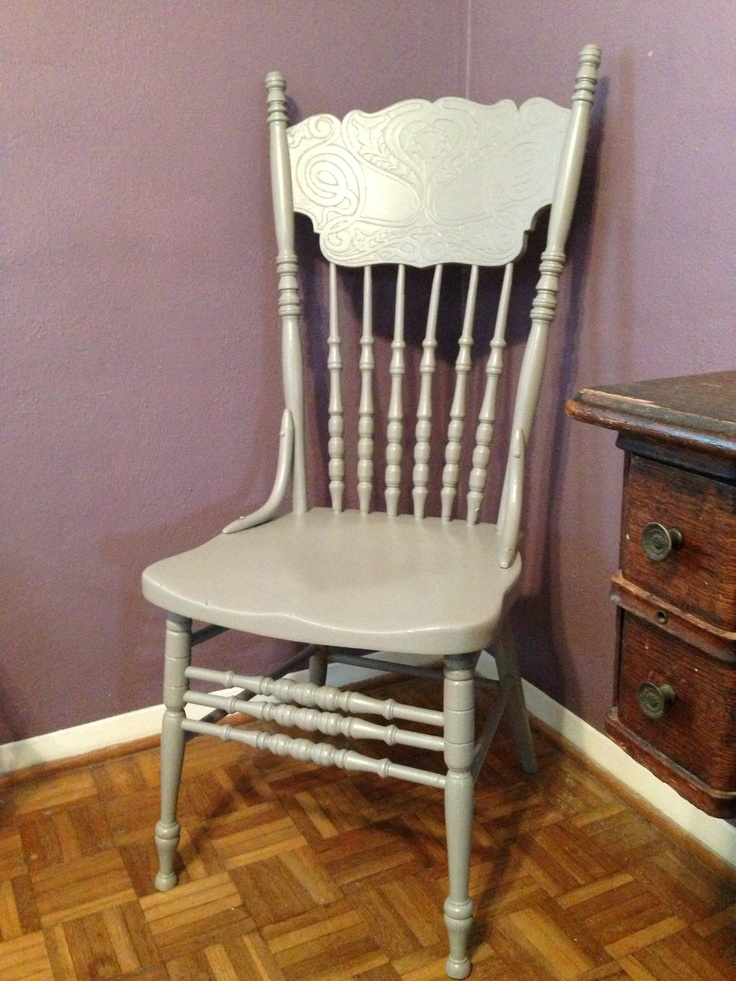 26 Best Images About Painted Press Back Chairs On