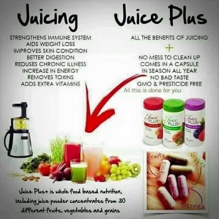 Some common Juice Plus myths  it's a juice diet - it's not a juice diet it's the essence of 17-26 different fruit & veg dried into a powder form and come as complete shakes/capsules.  without the product you will put the weight back on - Juice Plus is a lifestyle change. As long as you keep up with your clean eating you will not put the weight back on. It's not about being on the shakes/capsules for life (although many people do stay on the capsules as they love the results) Going back to…