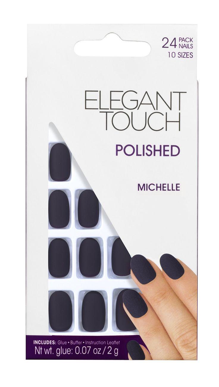 Elegant Touch Polished Nails Hamptons Collection Matte, Michelle Indigo: Pinterest: @carlenesantamar