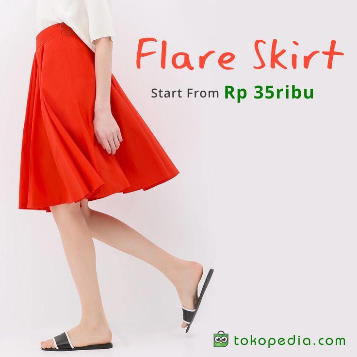 Padu padankan fashionmu dengan flare skirt masa kini mulai dari 35ribu di Tokopedia. Mau? Langsung klik aja link ini: http://www.tokopedia.com/hot/flare-skirt