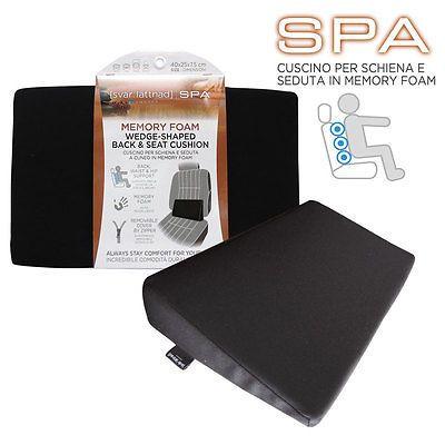 Cuscino Sedile Auto in Memory Foam linea SPA - per schiena e seduta 40x25x7,5cm in Veicoli: ricambi e accessori, Auto: accessori, Interni | eBay