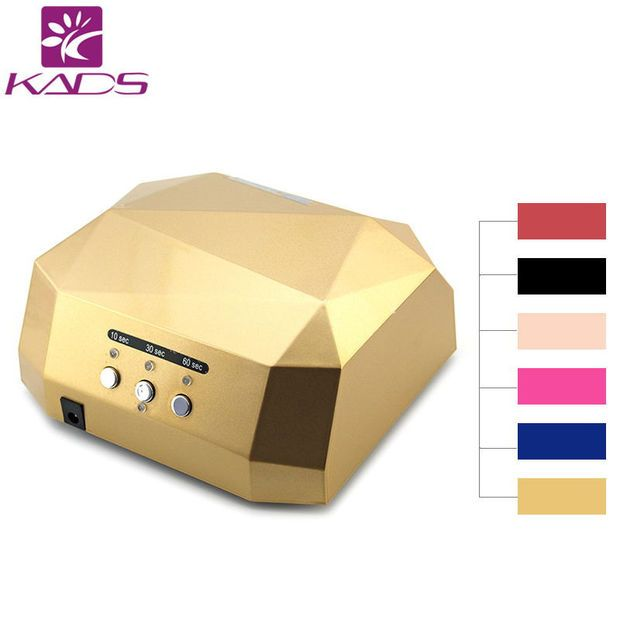 KADS UV Lamp LED Nail Lamp Nail Dryer Diamond Shaped 36W Long LIife LED CCFL Curing Nail Tools for UV Gel Nail Polish Art Tools