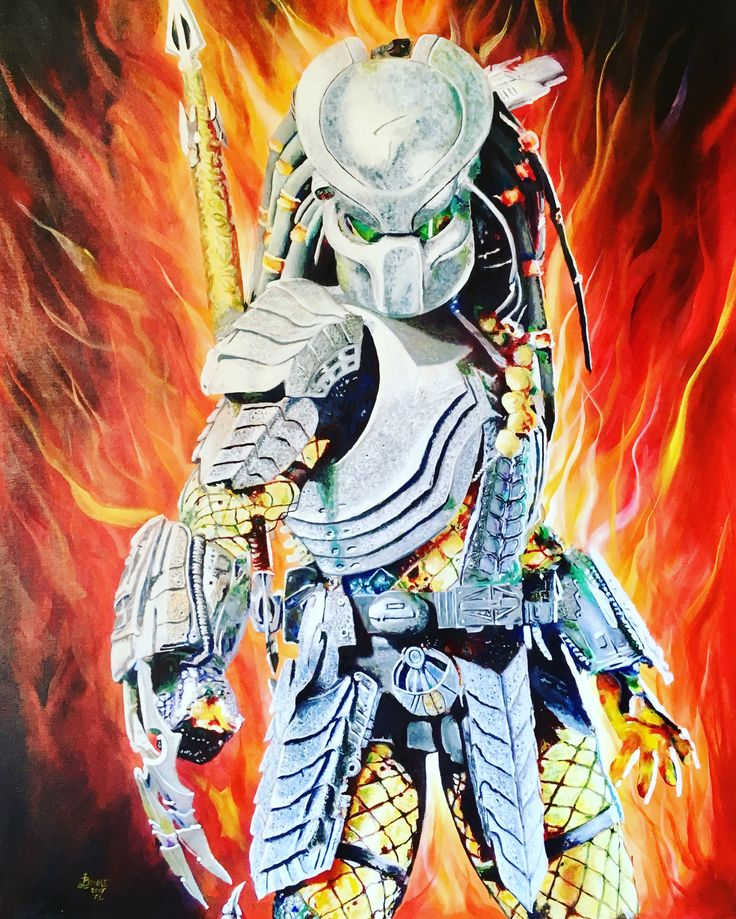 """Elkészült a 73. képem. Mérete 100 * 70 cm, feszített vászonra készült. A kép Boris Vallejo stílusában készült. Címe: """"Predátor""""  A kép érdekessége, hogy a Predátor nevű konditerem részére készítettem, ott lesz állandóan kiállítva."""
