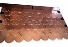 Roofing materials Wanael fish scale copper roof tile,copper shingle for roof, Copper Roofing Tiles