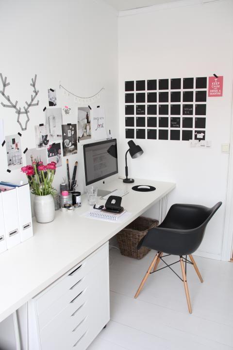 noir et blanc pour mon bureau atelier