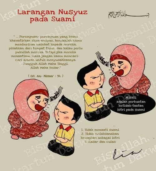 Nusyuz adalah perbuatan ketidak taatan istri pada suami