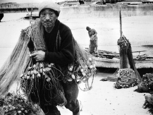 1957, Seoul Hangang(Han river), by Yi,Hyeong- rok