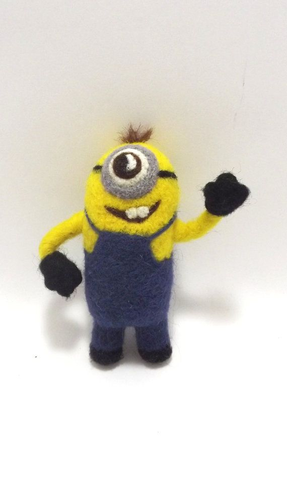 One-Eyed MINION Needle Felted collectible figure от DredinkaShop