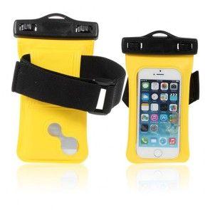 Vandtæt Pose til 4,0'' Smartphones, Størrelse: 13,5 x 7cm - Gul