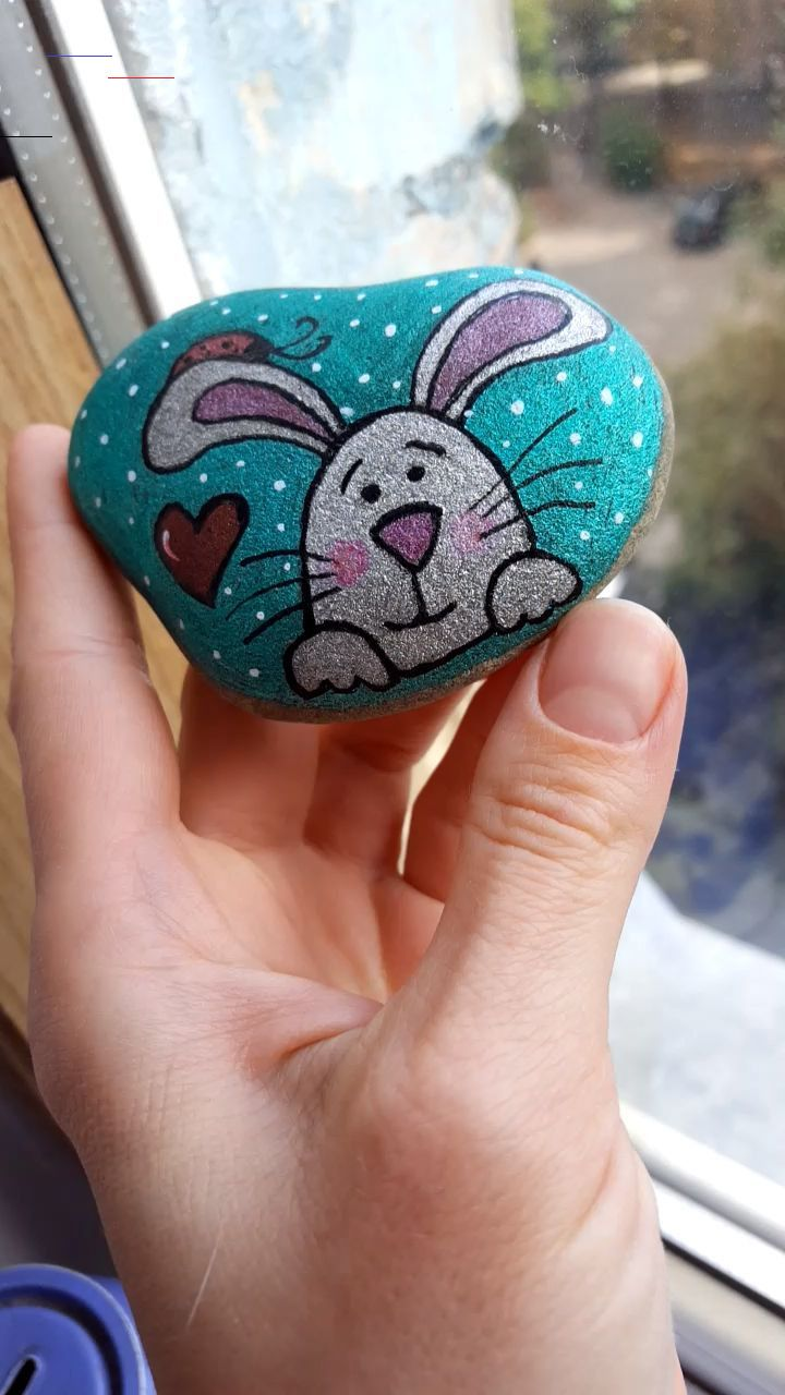 Cute Glitter Rabbit Painted Rock Check More At Https Emreerdem Com Tr Cute Glitter Rabbit P Felsenun Rabbit Painting Painted Rock Animals Painted Rocks