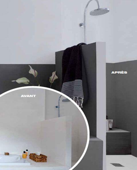 1000 id es propos de peindre salle de bain sur pinterest peindre des armoires de salle de for Peindre une salle de bain