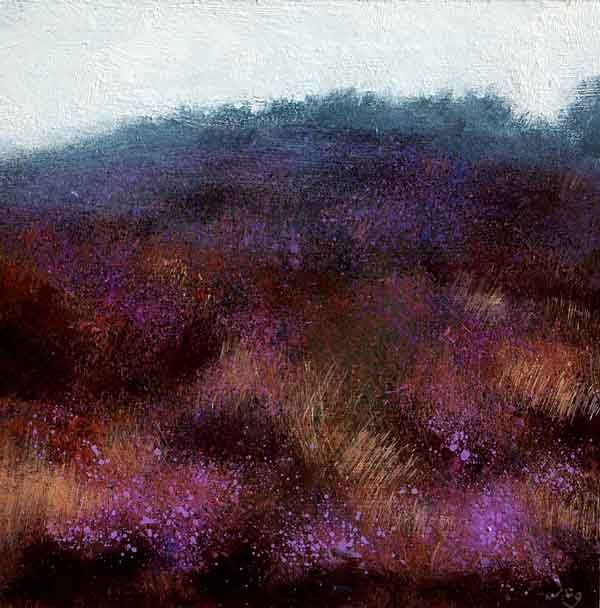 Irish Landscape  'Morning Mist and Bog Heather'  Irish Landscape painting  Irish Art