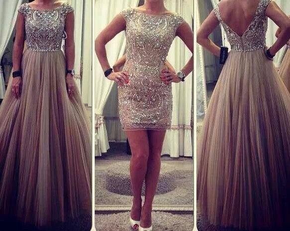 Mini dress with detachable skirt... impeccable