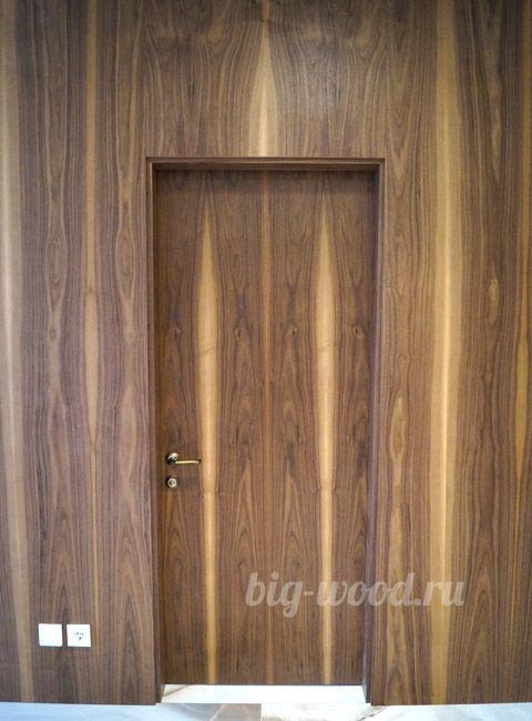 Панели и дверные комплекты скрытые. Шпон Орех Американский