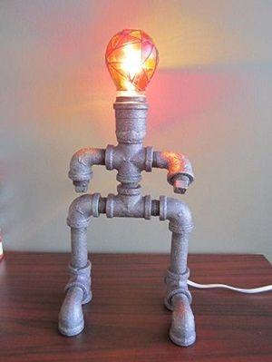 DIY Robot Lamp | The Home Depot Community