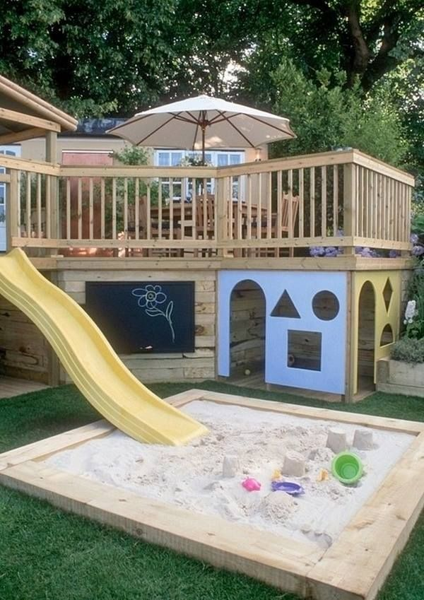 "Got an elevated deck? Got kids? 2 + 2? Looking for deck inspiration? You'll find it in our ""Decks"" album on our site at http://theownerbuildernetwork.co/ideas-for-your-rooms/decks-and-verandas-gallery/decks/ Will the kids in your family enjoy this?"