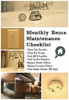 Monthly Home Maintenance Checklist    Household Tips :: Hometalk