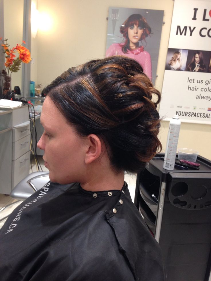 Great big up do on short hair for a very big formal Indian wedding