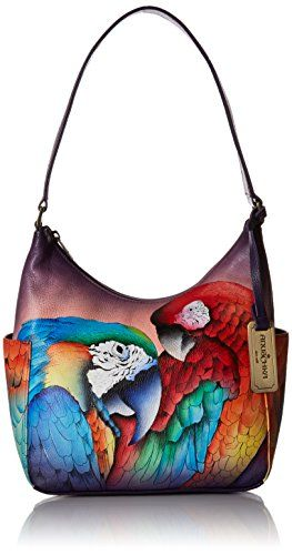 Anuschka Women s Hobo Leather Hand Painted Shoulder Bag fdbec47167b6e