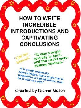 best conclusions images handwriting ideas  then outlines 7 ways for students to write introductions that grab the reader s attention and 5 ways for them to write conclusions out resorting to