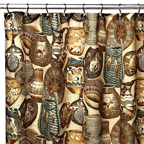 Uphome Chic Southwestern Style Artisan Bathroom Shower Curtain  Brown Waterproof and Mildewproof Polyester Fabric Bathroom Curtain Ideas 72W x 78H * You can get additional details at the image link.