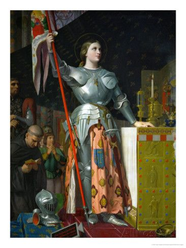 Joan of Arc at the Coronation of King Charles VII at Reims Cathedral, July 1429 Giclee Print by Jean-Auguste-Dominique Ingres at AllPosters....