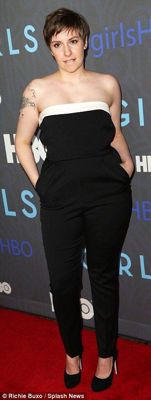 Lena Dunham's Cropped Cut - not sure if I could pull this off but REALLY tempted to try it!