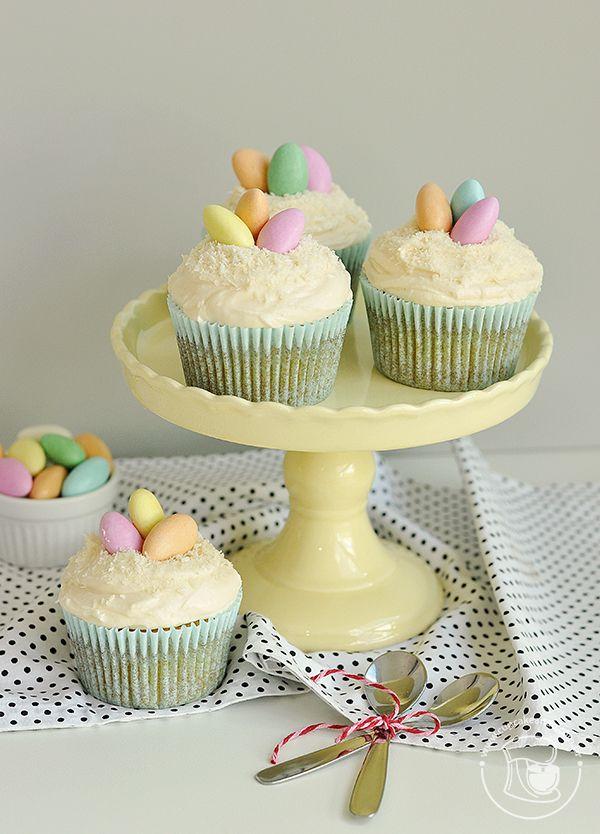 Cupcakes cremosos de amêndoas e coco | Cupcakeando