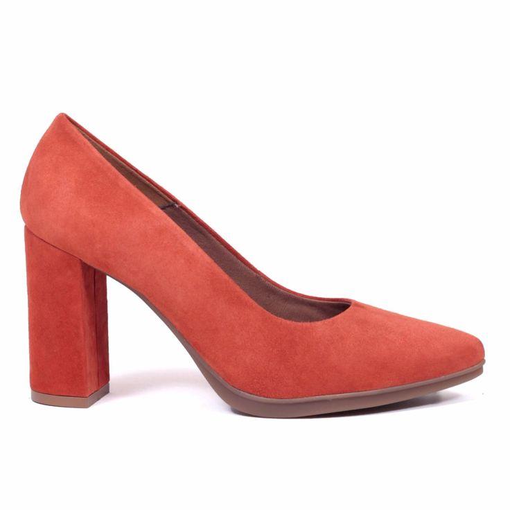 miMaO Urban zapato de salón - rojo teja – Chaussure escarpin urban Rouge Brique - Urban Pump Schuhe -Lackleder-  Korallen Rot