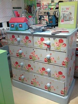 Painted chest of drawers at Cath Kidston