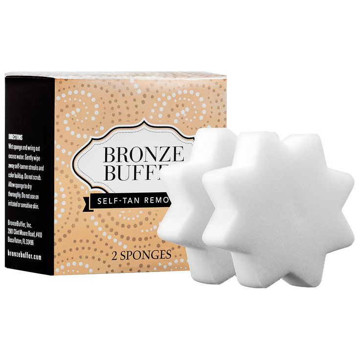 What it is:A set of reusable sponges that instantly wipe away self-tanner streaks and unwanted color.    What it does:Each reusable sponge eliminates streaks, cleans stained palms, removes buildup on knees and ankles, and lightens too-dark color. It