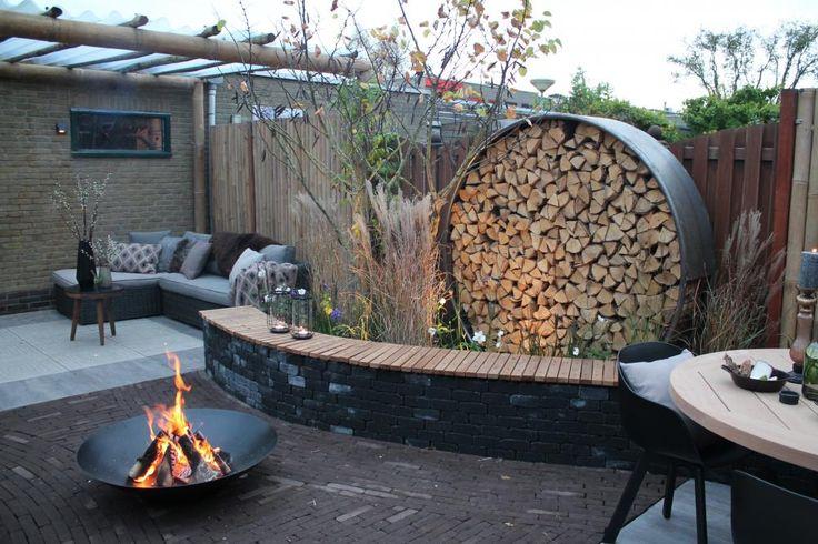 Bank steen + hout, ook geschikt als kering