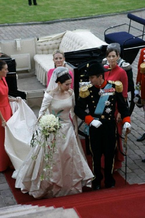 Mary Donaldson And Crown Prince Frederik Married On 14 May 2004 In Copenhagen Cathedral