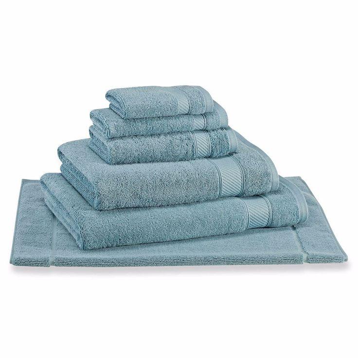 Wamsutta® Hygro® Duet Bath Towel Twist Loop 100% Cotton in Cameo Blue #Wamsutta