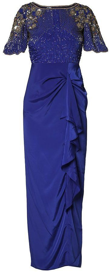 Virgos Lounge Grace Maxi Dress Blue (£125)