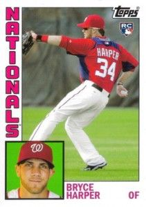 Bryce Harper was the #1 pick in the 2010 draft and is expected to continue making solid contributions to the Washington Nationals. His 2012 Topps Archives card was the first official Bryce Harper rookie card released.