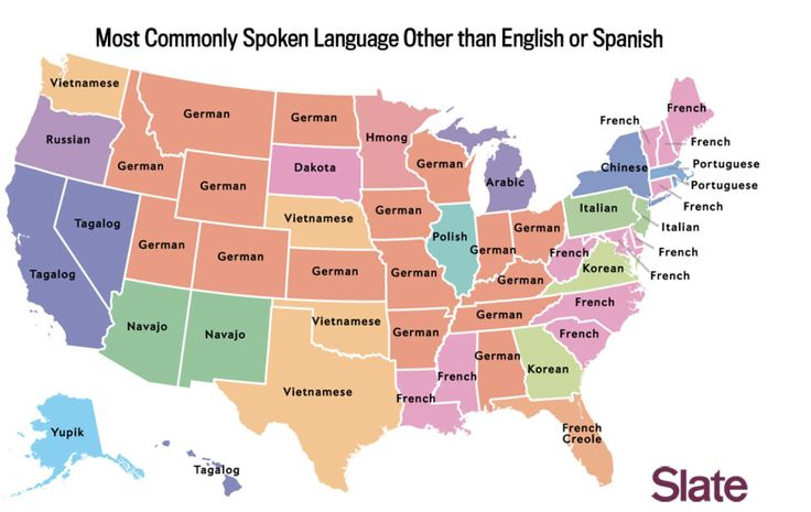 Most Common Language Spoken in the United States other than English or Spanish [1940 × 1228]