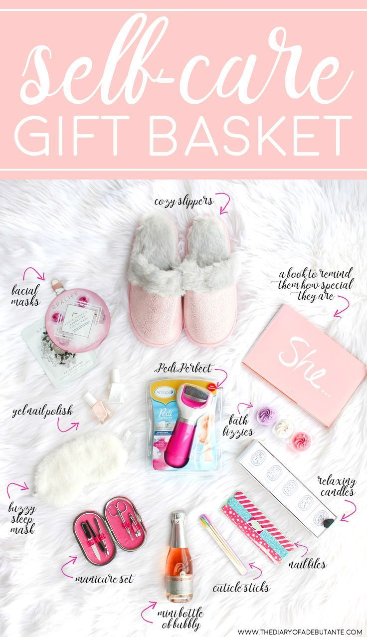 Cute and thoughtful gift basket idea for anyone who needs more  me time!  How to create your own DIY spa gift basket plus 12 self care gift ideas to ...  sc 1 st  Pinterest & DIY Self Care Gift Basket: A Collection of 12 Awesome Self Care Gift ...