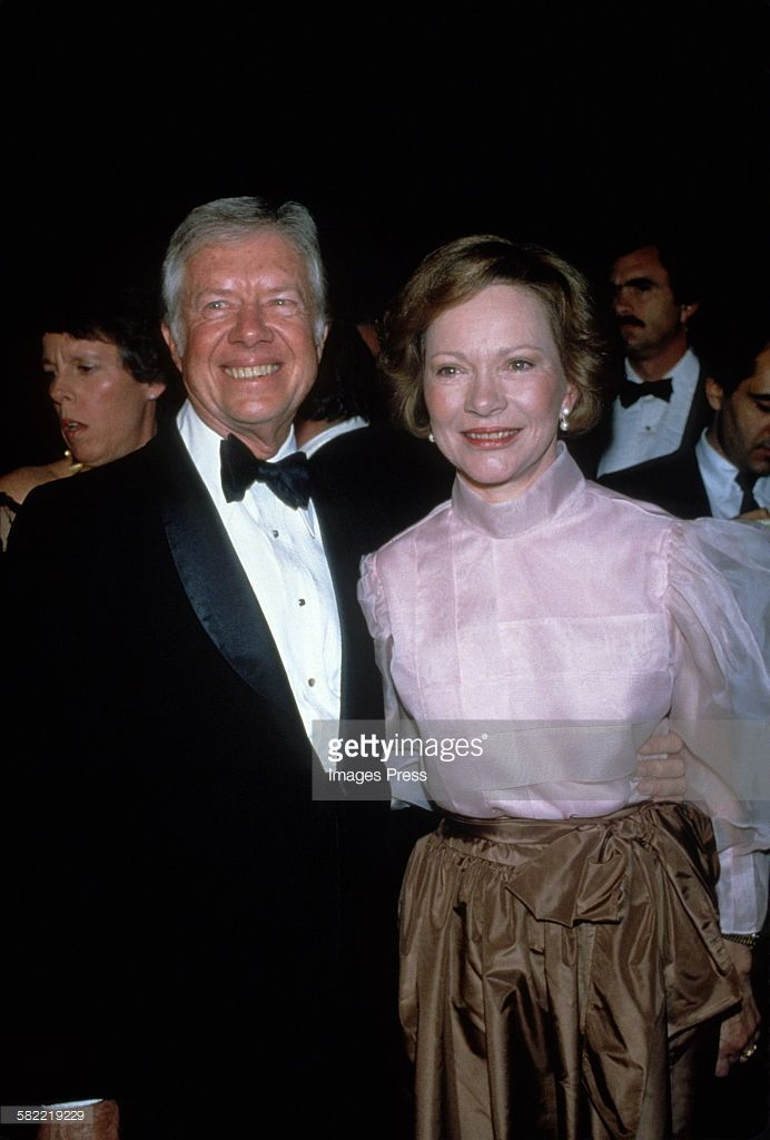Jimmy Carter and wife Rosalynn Carter circa 1980 in New York City.