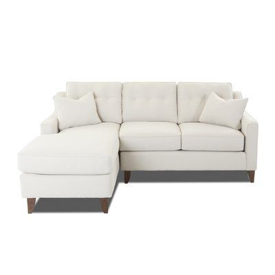 Latitude Run Silvia Small Sectional Upholstery: Amigo Granite, Orientation:  Left Hand Facing