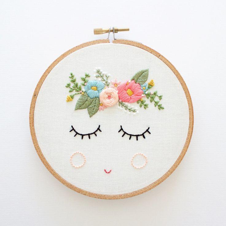 POSY Embroidery Pattern Digital Download por ThreadFolk en Etsy