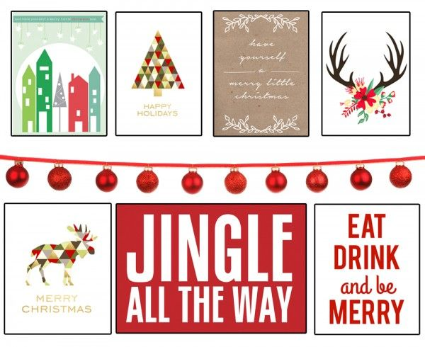35+ Free Christmas Printables to Frame • Little Gold Pixel