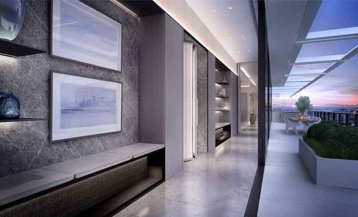 """""""The design seamlessly integrates The Grand Pavilion Penthouse into Fitzroy Gardens, creating a sanctuary on the doorstep of the city."""""""