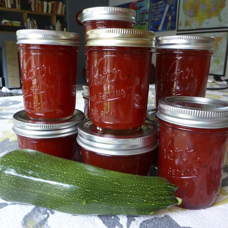 Pick Your Flavor Zucchini Jam Ingredients:  6 cups of grated Zucchini/Courgette (peel it if you don't like the skin to show. I love the skin bits, so pretty) 1/2 cup water 4 cups sugar 3/4 cup lemon juice 1 (20 ounce) can crushed pineapple in juice 1 (6 ounce) box raspberry Jell-O (you can use any flavor, strawberry is AMAZING!) 1 (2 ounce) box surejell fruit pectin  or equivalent - I currently use 6 TBL of a powdered pectin.