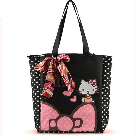 Women Bags Canvas Hello Kitty Bags Casual Shopping Bags Fashion Female Shoulder Bags High Quality 4 Colors Handbag //Price: $17.58 & FREE Shipping //     #womenfashion